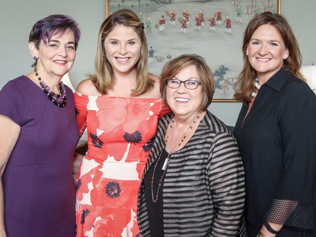 Mental Health Association luncheon, 9/16 Gwen Emmett, Jenna Bush Hager, Susan Fordice, Heather Simpson