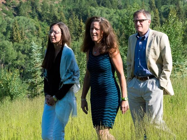 St. Luke's Hospital in Aspen July 2013 Melanie Margolis, Nancy Risman Margolis, Larry Margolis
