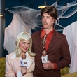 Lindsay and Dan Pearce at the St. Luke's PULSE Saints & Sinners Halloween party October 2013