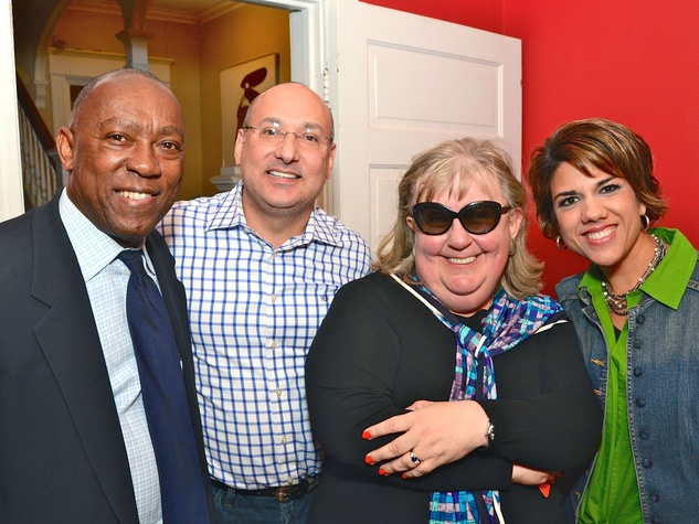 5 Sylvester Turner, from left, Gilbert Garcia, Cindy Clifford and Dr. Dee Dee Garcia at Cindy Clifford's birthday bash November 2014