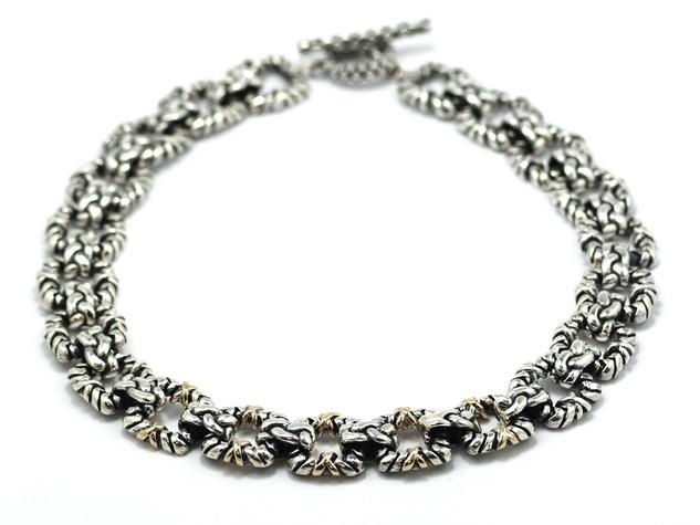 Dian Malouf silver necklace