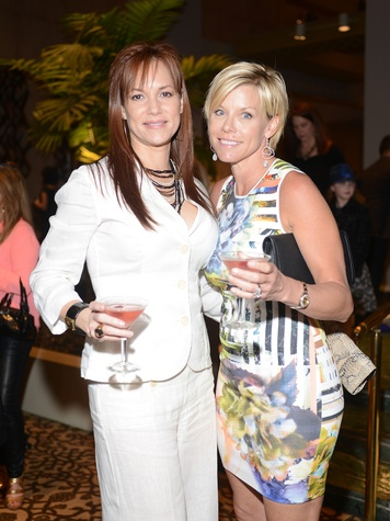12 1804 Sandra Winters, left, and Maryalice Haest at the Jonathan Blake fashion party April 2014