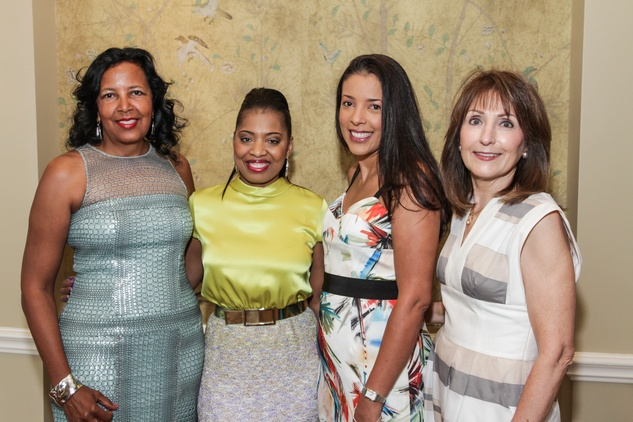 9391 Paige Cawthon, from left, Shawntell McWilliams, Dameria Curry-Boston and Terri Phillips at the National Kidney Foundation luncheon May 2014