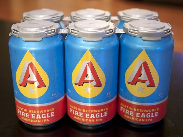 six pack of Austin Beerworks Fire Eagle American IPA