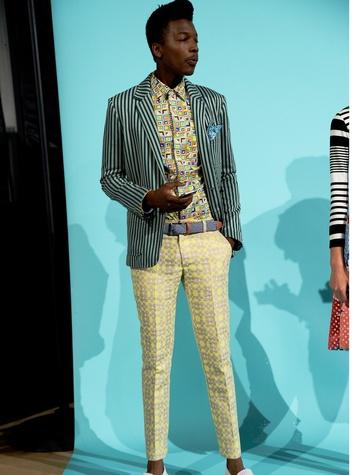 Fashion Week spring 2015 Trina Turk men's separates look