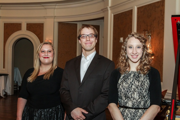 20 Whitney Robinson, from left, Aidan Smerud and Sydney Anderson at the Moores School of Music Luncheon November 2014