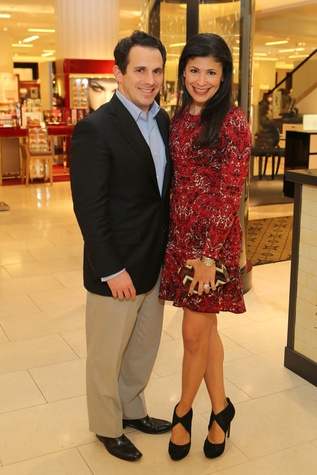 Chris and Kristy Bradshaw at the CancerForward Key To The Cure Kick-off October 2014