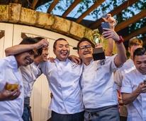 Cochon 555 Kata Robata Manabu Horiuchi celebrates