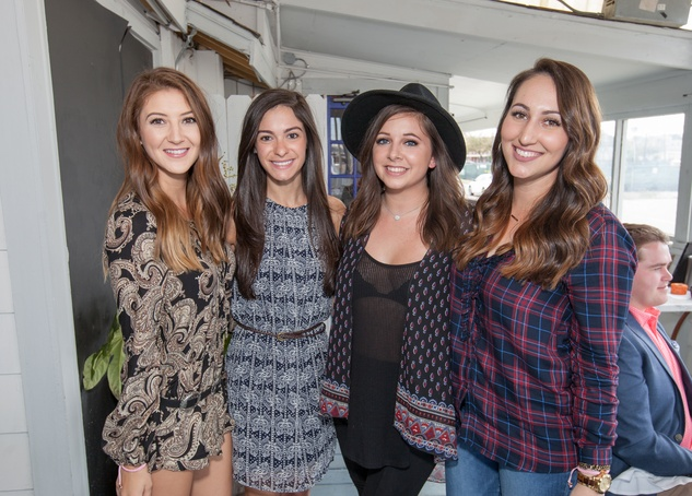 Durham House brunch, March 2016, Lauren Leal, Rachel Remington, Sara Malloy, Allison Reynolds