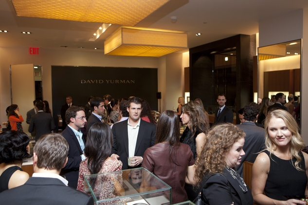 crowd, venue at the David Yurman Meteorite Collection launch October 2013