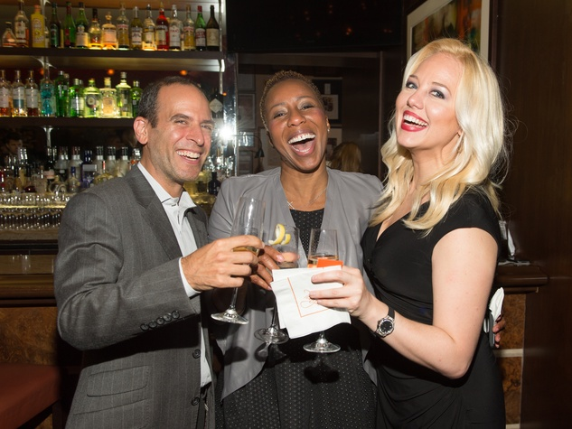 24 Oren Agai, from left, Marva Bradshaw and Holland Vavra at the Hublot dinner party at Tony's October 2013