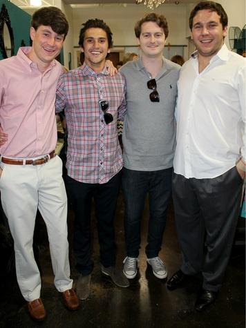 Matt Whalen, Steven Adams, Jack Brizendine, and Corbin Blount , chantilly shopping event