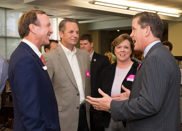 News, Shelby, AdvoCare reading event, August 2014, Neil Bush, Greg Maxwell, Paula Johnson, Jamie Rootes