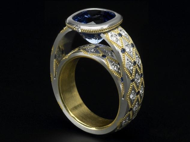 Zoltan David sapphire couture
