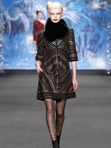 Clifford New York Fashion Week fall 2015 Naeem Khan March 2015 LOOK 02