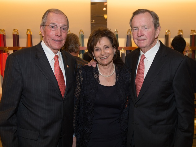 John and Bobbie Nau, from left with NAME at Kermit Oliver at Hermès February 2014