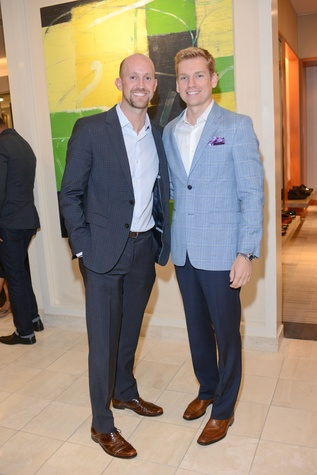 13 Mike Mahlstedt, left, and Kyle Dutton at the Neiman Marcus Men's Fall Trend Event September 2014.