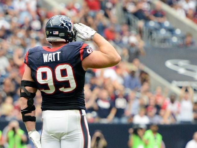 J.J. Watt salute