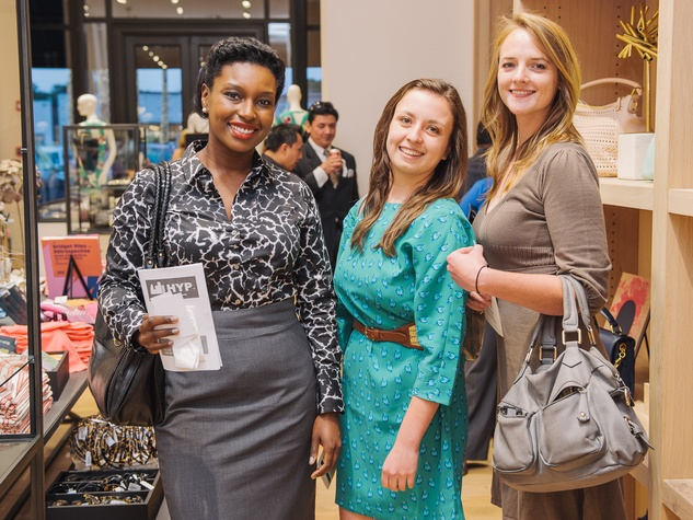 11 J. Crew & HYP Chamber of Commerce April 2013 Juawana Colbert, Rebecca Windebar, Vonnie Hall