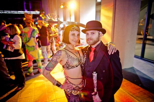 265 Y.E.T. and Nick Tvegan at the Art Car Ball April 2015