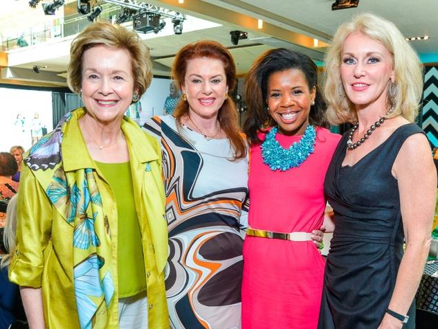 M.D. Anderson Gold Star luncheon September 2013 Joyce Ahearn, Phyllis Pittman, Claire Cormier Thielke, Lisa Parigi