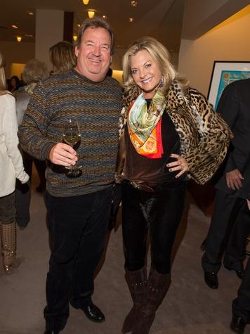 Scott and Dru Cone at Kermit Oliver at Hermès February 2014