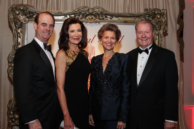 John and Betty Hrncir, from left, Bain Pearson and John Pitts at the Huffington Center on Aging Gala November 2013