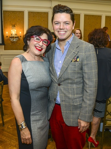 19 Roz Pactor and David Peck at the Fashion Retailers luncheon October 2013