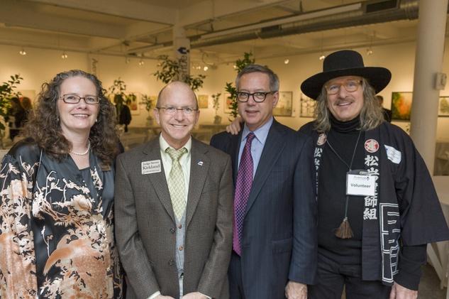 Mary Lawler, from left, Steve Kirkland, Peter Kelly and Jay Hamburger at Art on the Avenue November 2013