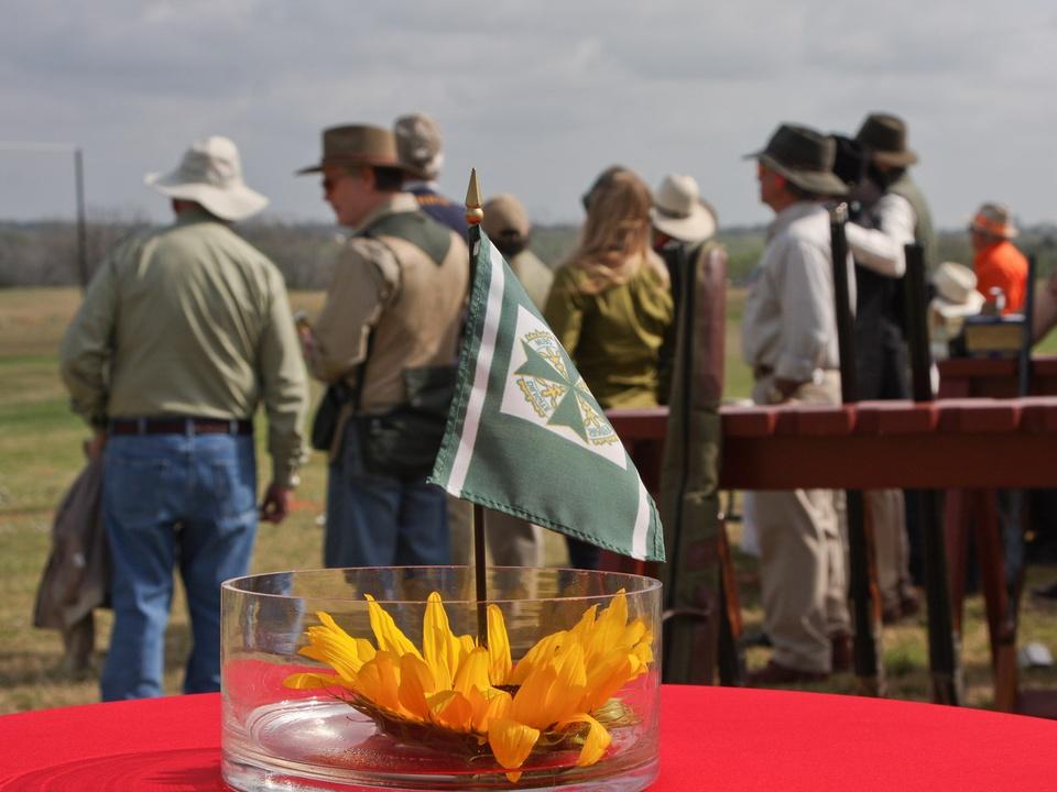 44, St. Hubertus, March 2013, flag, flower, shooting range