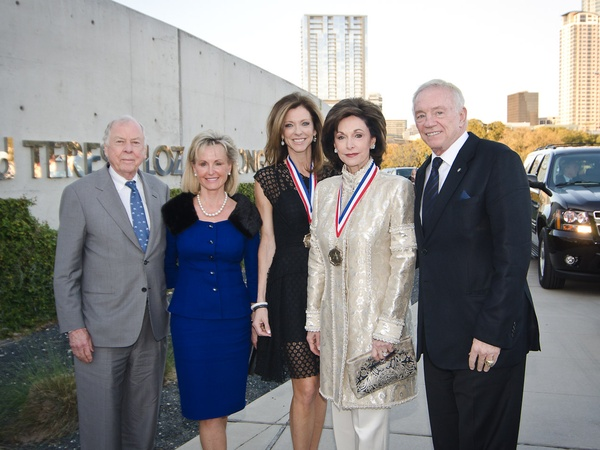 11, Texas Medal of Arts, March 2013, 5739, T. Boone Pickens, Toni Brinker, Charlotte Jones Anderson, Gene Jones, Jerry Jones