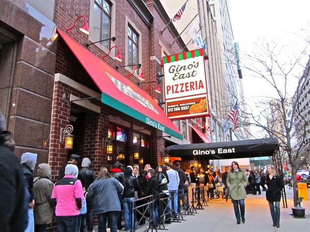 original Gino's East pizzeria deep dish in Chicago