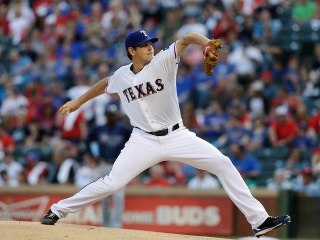 Pitcher Nick Tepesch of the Texas Rangers