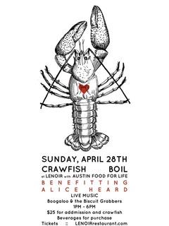 Lenoir crawfish boil fundraiser for Power Heard Austin Food for Life