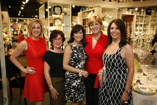 6 Jessica Willey, from left, Roz Pactor, Ilene Allen, Robyn Barnes and Regina Garcia at Events' Shop With Heart Card launch party April 2014
