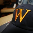 "52 A hat adorned with ""W"" to reflect the event's honoree at An Evening with a Legend February 2015"