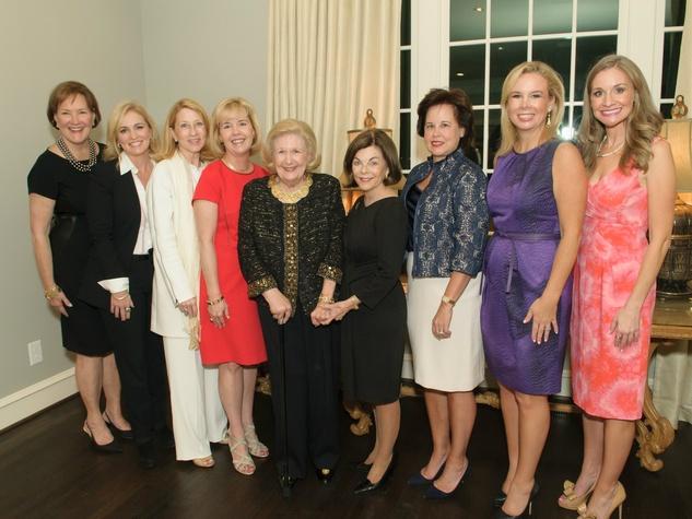 Margo Goodwin, Susan McSherry, Debbie Oates, Christie Carter, Lindalyn Adams, Barbara Stuart, Lisa Longino, Daffan Nettle and Maggie Kipp, Celebrating Women