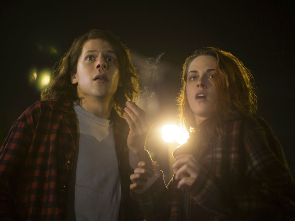 Jesse Eisenberg and Kristen Stewart in American Ultra