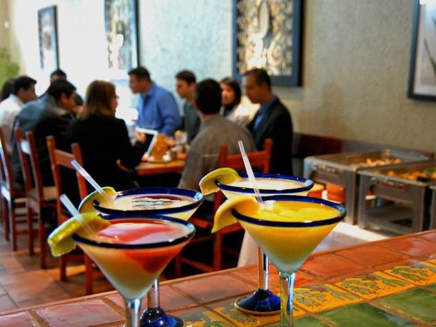 Maria Selma Restaurant Houston margaritas on bar