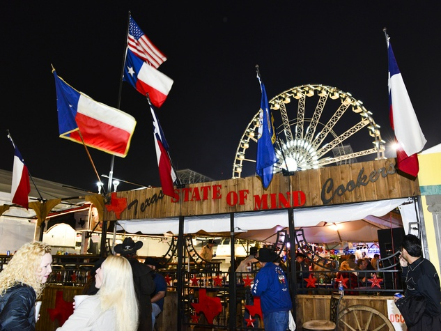8 venue crowd Ferris Wheel at the Houston Rodeo barbecue cook-off February 2014 Texas State of Mind Cookers