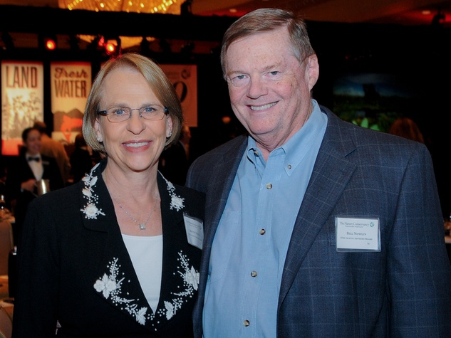 Bettye and Bill Nowlin at Nature Conservancy Luncheon