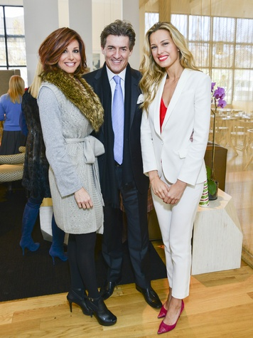 23 Dominique Sachse, from left, Nick Florescu and Petra Nemcova at the Petra Nemcova luncheon December 2013