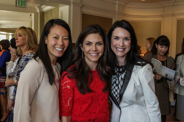 Ting Bresnahan, from left, Monica Blaisdell and Samantha Kennedy at the Huffington Center on Aging luncheon October 2014