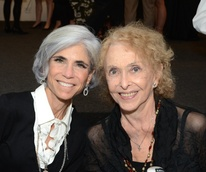 Judy Nyquist, left, and Carolee Schneemann at the Aurora Picture Show Awards dinner October 2014