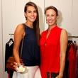 9 Kathryn Hamilton, left, and Elena Peden at the Dress for Dinner kickoff in new David Peck Showroom September 2014