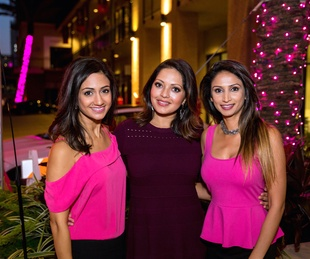 Houston, Marcy, West Ave Pink Party, October 2017, Rashi Vats, Rekha Muddaraj, Sapna Patel