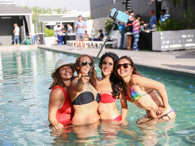 CultureMap Social The W Hotel Wet Deck Pool Selfie Stick