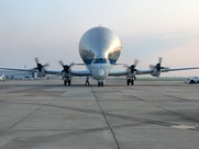 Super Guppy on tarmac
