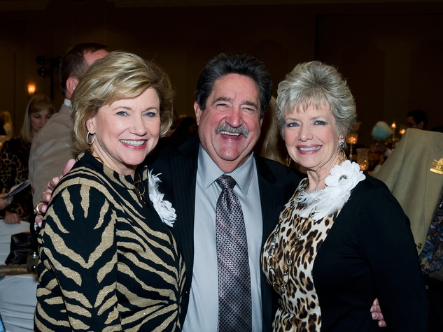 11 Susan Buddeke, from left, Ken Mcguyer and Dot Mitchell at the Rodeo Trailblazer Awards Luncheon February 2015