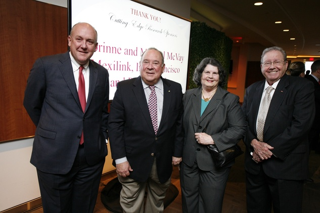 7 Dr. Charles Frasher, from left, Eduardo and Tere Aguirre and Dr. Richard Wainerdi at the Texas Children's Hospital What's Up Doc dinner November 2014
